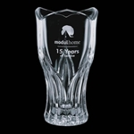 Crystal Lotus Vase (Non-Lead Crystal)The Crystal Lotus Vase is now made from a more environment-friendly Non-Lead Crystal. ThisTulip Shaped crystal award can be deep-etched with a company logo and text.Available in 8 and 11.Call 800-830-3386 to buy now!