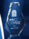 Optic Crystal Windsor Diamond Award