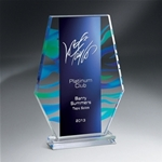 12 Aquus Monument This trophy is new to our collection. It is a Blue-Green Acrylic Award with a sturdy base. This item can be Laser Engraved and/or Digitally Printed. Contact your salesperson for more details.New item!Call 800-830-3386 to buy now!
