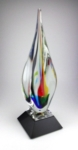19¾ Majesty AwardArt Glass Spire on black optic glass base. Art Glass may slightly vary in color, size, and appearance from one piece to another.New item!Call 800-830-3386 to buy now!