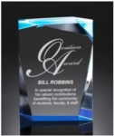 Spectra Prism Acrylic Gem Award - Blue