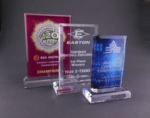 "Acrylic Beveled Rectangle On Base  Our 1"" thick Beveled Rectangle/Base Awards are made from crystal clear acrylic and deliver a high perceived value at prices that fit even the tightest budget.Perfect for Laser Engraving, Full-Color UV Printing or a combination of both. Call 800-830-3386 to buy now!"