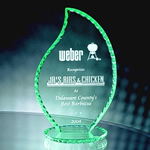 9¾ Jade Crystal Pearl Edge FlameThe soft green-tinted edges of this 9¾ Pearl Edge Jade Crystal Flame Award has depth as light strikes it from every angle. Etched to perfection to communicate your appreciation.Call 800-830-3386 to buy now!