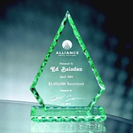 7 Jade Crystal Pearl Edge DiamondThe soft green-tinted edges this 7 inch Pearl Edge Jade Crystal Diamond Award giving it depth as light strikes it from every angle. Etched to perfection to communicate your appreciation.  Call 800-830-3386 to buy now!