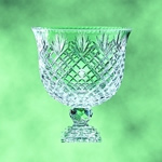12 Lead Crystal Newcastle Footed BowlLead Crystal 12 Pedestal Bowl Award has intricate cuts with a generous area to etch your logo and text. Optional base available. Call 800-830-3386 to buy now!
