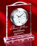 This Crystal timepiece is impresive and due to its size and weight. It is sure to leave a lasting impression with any recipient.Additional Charges For Engraving and Logos