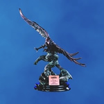 Majestic Breathtaking and Beautiful! This finely detailed sculptured 24 Antique Copper Finished Eagle is perched on an Ebony presentation base. Personalize with matching copper plate. There is no better way to recognize your soaring keen-eyed performers!Additional Charges For Engraving and Logos